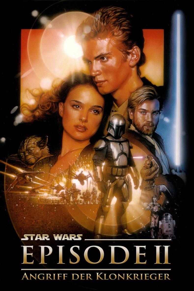 """Plakat von """"Star Wars: Episode II - Angriff der Klonkrieger"""""""