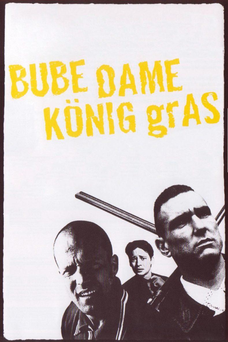 """Plakat von """"Bube, Dame, König, grAS"""""""