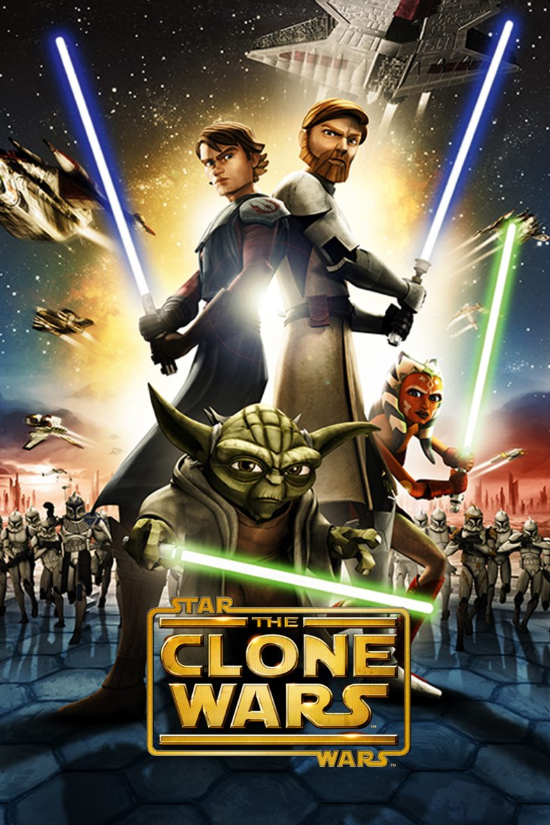 "Plakat von ""Star Wars: The Clone Wars"""
