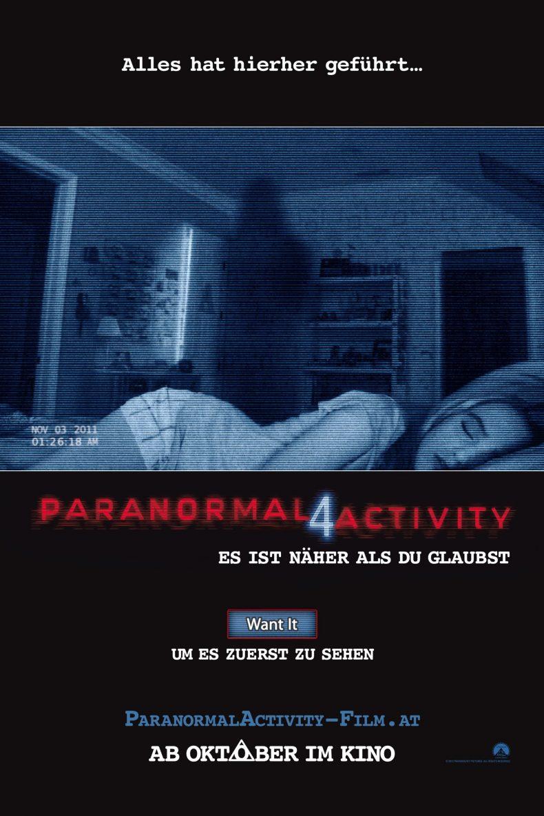 """Plakat von """"Paranormal Activity 4"""""""